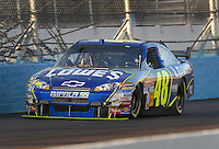 Apr 19, 2007; Avondale, AZ, USA; Nascar Nextel Cup Series driver Jimmie Johnson (48) during qualifying for the Subway Fresh Fit 500 at Phoenix International Raceway. Mandatory Credit: Mark J. Rebilas
