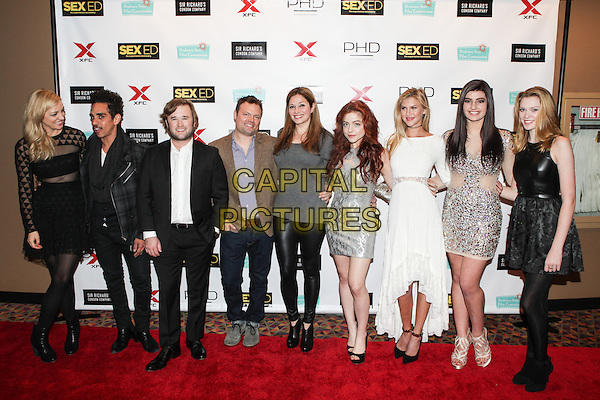 NEW YORK, NY - NOVEMBER 7: The Cast of Sex Ed attend the 'Sex Ed' New York Premiere at AMC Empire 25 theater on November 7, 2014 in New York City.   <br /> CAP/MPI/COR<br /> &copy;Corredor99/ MediaPunch/Capital Pictures