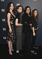PASADENA, CA - FEBRUARY 4:  Mikey Madison, Hannah Alligood, Pamela Adlon and Olivia Edward at the 2019 FX Networks Winter TCA Star Walk at The Langham Huntington Hotel and Spa on February 4, 2019 in Pasadena, California. (Photo by Scott Kirkland/FX/PictureGroup)