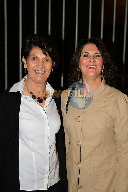 Ester McDonald and Noelene Devine heading to the TLT to enjoy the Nuttcracker Ballet..Picture: Shane Maguire / www.newsfile.ie