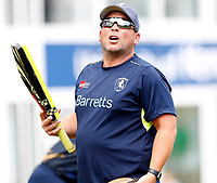 Kent coach Matt Walker takes a training session during the T20 friendly between Kent and the Netherlands at the St Lawrence Ground, Canterbury, on July 3, 2018