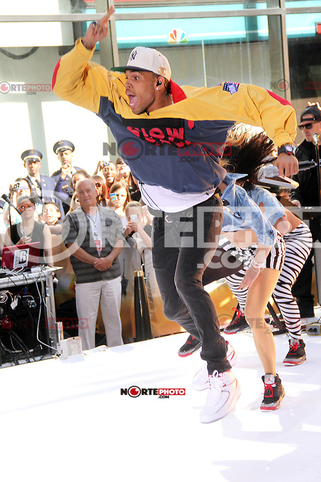 Chris Brown performs 0n NBC's Today Show Toyota Concert Series in New York City. June 8, 2012. © RW/MediaPunch Inc. NORTEPHOTO.COM