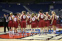 SAN ANTONIO, TX - APRIL 4:  The team at practice on April 4, 2010 at the Alamo Dome in San Antonio, Texas.