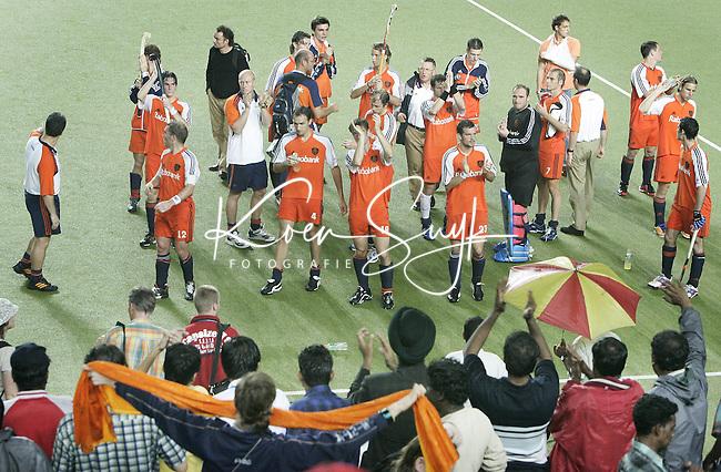 CHENNAI-Champions Trophy hockey mannen.Teleurstelling bij Oranje , zondag na de finalewedstrijd Nederland-Australie (1-3). ANP PHOTO KOEN SUYK
