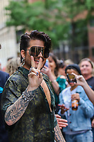 NOVA YORK, EUA, 05.09.2019 - CELEBRIDADE-EUA -  Cantor Adam Lambert é visto no bairro do Soho em Manhattan na cidade de Nova York nesta quinta-feira, 05 (Foto: Vanessa Carvalho/Brazil Photo Press/Folhapress)