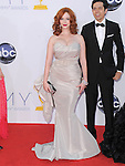 Christina Hendricks at The 64th Anual Primetime Emmy Awards held at Nokia Theatre L.A. Live in Los Angeles, California on September  23,2012                                                                   Copyright 2012 Hollywood Press Agency