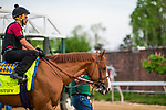 LOUISVILLE, KY - MAY 02: Justify with Humberto Gomez up schools at the gate at Churchill Downs on May 2, 2018 in Louisville, Kentucky. (Photo by Alex Evers/Eclipse Sportswire/Getty Images)