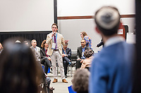 "Rabbi Benjamin Spratt, Associate Rabbi of Congregation Rodeph Sholom in New York, New York, speaks at a ""Learning Session"" titled ""Jewish Millennial Leadership and Engagement: Empowering a Generation"" at the Union for Reform Judaism Biennial 2017 in the Hynes Convention Center in Boston, Mass., USA, on Wed., Dec. 6, 2017."
