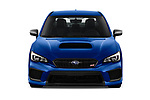 Car photography straight front view of a 2018 Subaru WRX STI Sport Premium 4 Door Sedan
