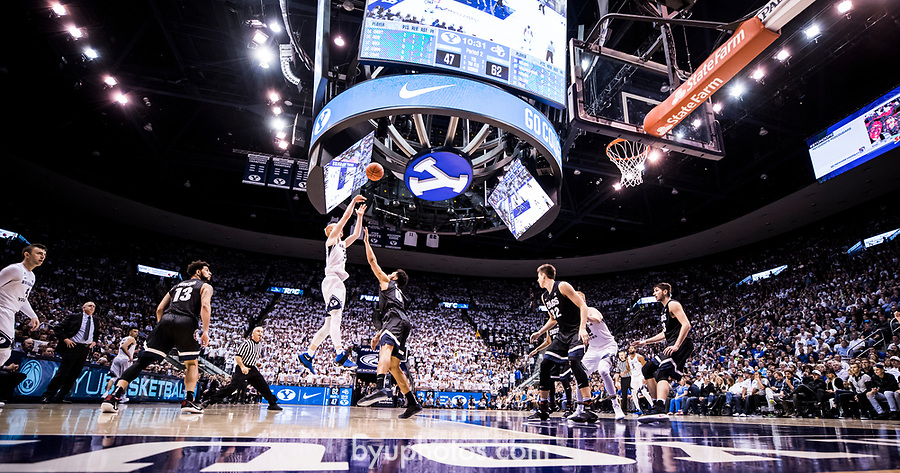 _E1_8554<br /> <br /> 16-17mBKB vs Gonzaga<br /> <br /> BYU played #1 ranked Gonzaga in the Marriot Center.<br /> <br /> BYU: 75<br /> Gonzaga: 85<br /> <br /> December 9, 2016<br /> <br /> Photography by Nate Edwards/BYU<br /> <br /> © BYU PHOTO 2016<br /> All Rights Reserved<br /> photo@byu.edu  (801)422-7322