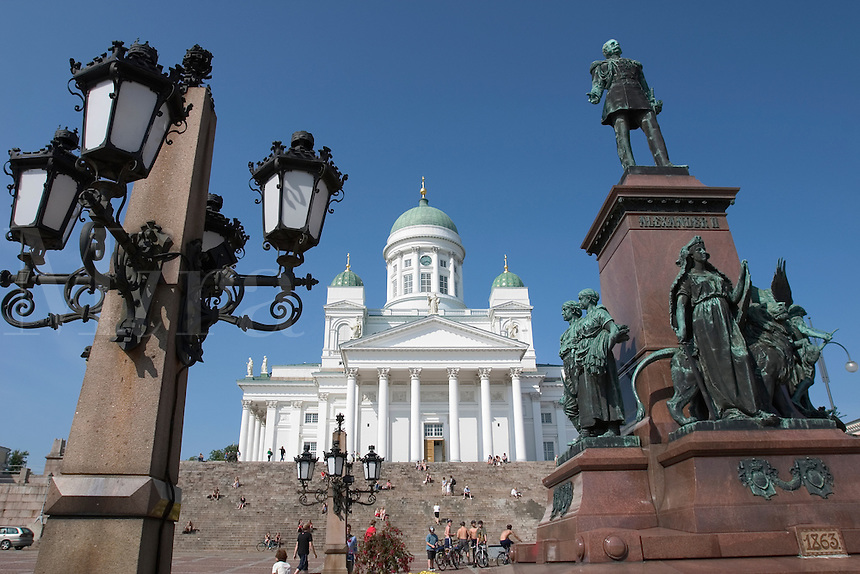 Luthern Cathedral in Senate Square in Helsinki, Finland.