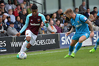 westhams jamal hector-engram and barnets elliott johnson during Barnet vs West Ham United, Friendly Match Football at the Hive Stadium on 15th July 2017