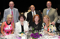 NWA Democrat-Gazette/CARIN SCHOPPMEYER Sara and Kent Starr (from left), Billie Starr, Winemaker's Dinner honorary chairwoman, Mike and Shannon Arcana and Melissa and Jay Hayward gather at the Walton Arts Center benefit June 9 at the arts center in Fayetteville.