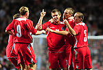 Wales celebrate after Aron Ramsey equalises for Wales. England U21 V Wales U21, Uefa European U21 Championship qualifying play-off second leg © Ian Cook IJC Photography iancook@ijcphotography.co.uk www.ijcphotography.co.ukUnholy Alliance Tour 2008,