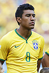 Paulinho (BRA), JULY 4, 2014 - Football / Soccer : FIFA World Cup Brazil 2014 Quarter Final match between Brazil 2-1 Colombia at the Castelao arena in Fortaleza, Brazil. <br /> (Photo by AFLO)