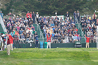 Tyrrell Hatton (ENG) on the 17th tee during the final round of the US Open Championship, Pebble Beach Golf Links, Monterrey, Calafornia, USA. 16/06/2019.<br /> Picture Fran Caffrey / Golffile.ie<br /> <br /> All photo usage must carry mandatory copyright credit (© Golffile | Fran Caffrey)