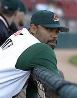 September 15, 2004:  First round draft pick Corey Smith of the Buffalo Bisons, International League (AAA) affiliate of the Cleveland Indians, during a game at Dunn Tire Park in Buffalo, NY.  Photo by:  Mike Janes/Four Seam Images
