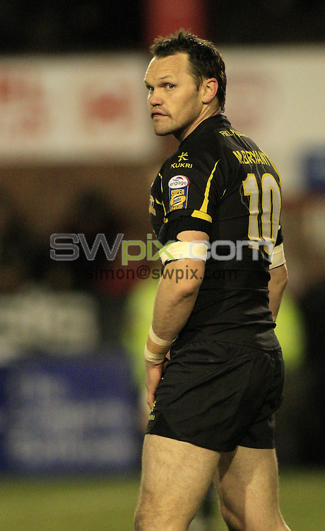 Pix: Chris Mangnall /SWPix.com, Rugby League, Super League. 12/03/10 St Helens Saints v Crusaders RL....picture copyright>>Simon Wilkinson>>07811267 706>>....Crusaders's (10) Mark Bryant