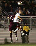 1 November 2006: Boston College's Paul Gerstenberger (2) and Maryland's Graham Zusi (11). Maryland defeated Boston College 1-0 in double overtime at the Maryland Soccerplex in Germantown, Maryland in an Atlantic Coast Conference college soccer tournament quarterfinal game.