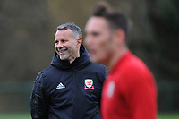 Ryan Giggs Manager of Wales watches on during the Wales Training Session at The Vale Resort, Hensol, Wales, UK. Monday 19 November 2018