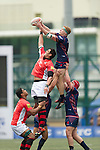 BGC Asia Pacific Dragons VS TaiKoo Place Scottish Exiles GFI HKFC Rugby Tens 2016 on 07 April 2016 at Hong Kong Football Club in Hong Kong, China. Photo by Juan Manuel Serrano / Power Sport Images
