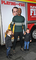 "LONDON, ENGLAND - DECEMBER 01: Kevin Adams and kids at the ""Playing With Fire"" celebrity screening, Cineworld Leicester Square, Leicester Square on Sunday 01 December 2019 in London, England, UK. <br /> CAP/CAN<br /> ©CAN/Capital Pictures"