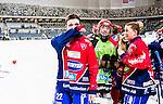 Stockholm 2015-03-13 Bandy SM-final damer Kareby IS - AIK :  <br /> Karebys Emma Kronberg gr&aring;ter efter matchen mellan Kareby IS och AIK <br /> (Foto: Kenta J&ouml;nsson)<br /> Nyckelord:  SM SM-final final Bandyfinal Bandyfinalen Dam Damer Dambandy AIK Kareby IS jubel gl&auml;dje lycka glad happy glad gl&auml;dje lycka leende ler le t&aring;rar gr&aring;t gr&aring;ter gr&aring;ta