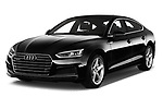 2018 Audi A5 Sportback Premium Plus  5 Door Hatchback angular front stock photos of front three quarter view