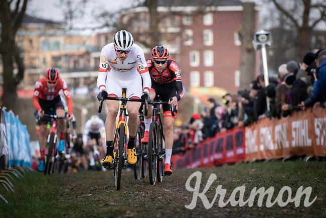 World Cup GC Leader Toon Aerts (BEL/Telenet Baloise Lions) and  Michael Vanthourenhout (BEL/Pauwels Sauzen - Bingoal)<br /> <br /> Men Elite Race<br /> UCI Cyclocross Worldcup – Hoogerheide (Netherlands)<br /> <br /> ©kramon