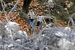 Palestinian boys stand next to the rubble of two under-construction Palestinian residential buildings after they were demolished by Israeli bulldozers in the West Bank town of Biet Jala, near Bethlehem January 29, 2018. Photo by Wisam Hashlamoun