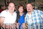 Enjoying New Years Eve at The Anchor Bar Cahersiveen were l-r; Mike, Trish & Hugh Horgan.