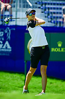 Madelene Sagstrom (SWE) watches her tee shot on 1 during Sunday's final round of the 2017 KPMG Women's PGA Championship, at Olympia Fields Country Club, Olympia Fields, Illinois. 7/2/2017.<br /> Picture: Golffile | Ken Murray<br /> <br /> <br /> All photo usage must carry mandatory copyright credit (&copy; Golffile | Ken Murray)