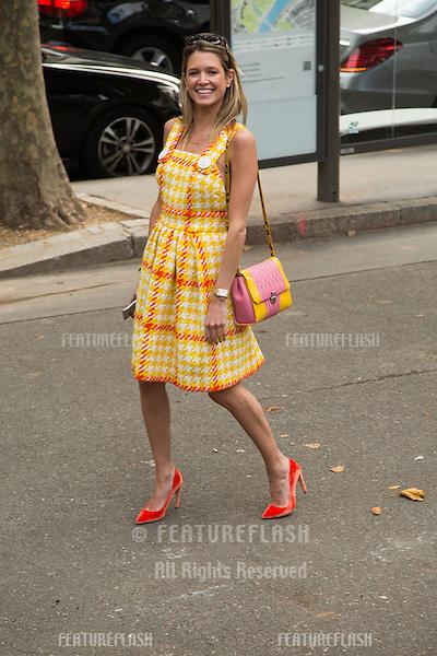 Helena Bordon attend Miu Miu Show Front Row - Paris Fashion Week  2016.<br /> October 7, 2015 Paris, France<br /> Picture: Kristina Afanasyeva / Featureflash