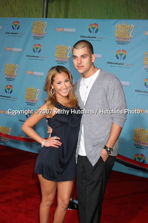 Adrienne Bailon & Bob Kardashian.High School Musical 2 DVD Release Event.El Capitan Theater.Los Angeles, CA.November 19, 2007.©2007 Kathy Hutchins / Hutchins Photo...               .