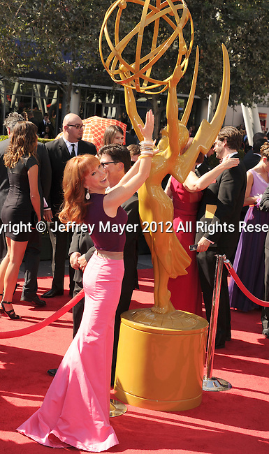LOS ANGELES, CA - SEPTEMBER 15: Kathy Griffin arrives at the 2012 Primetime Creative Arts Emmy Awards at Nokia Theatre L.A. Live on September 15, 2012 in Los Angeles, California.