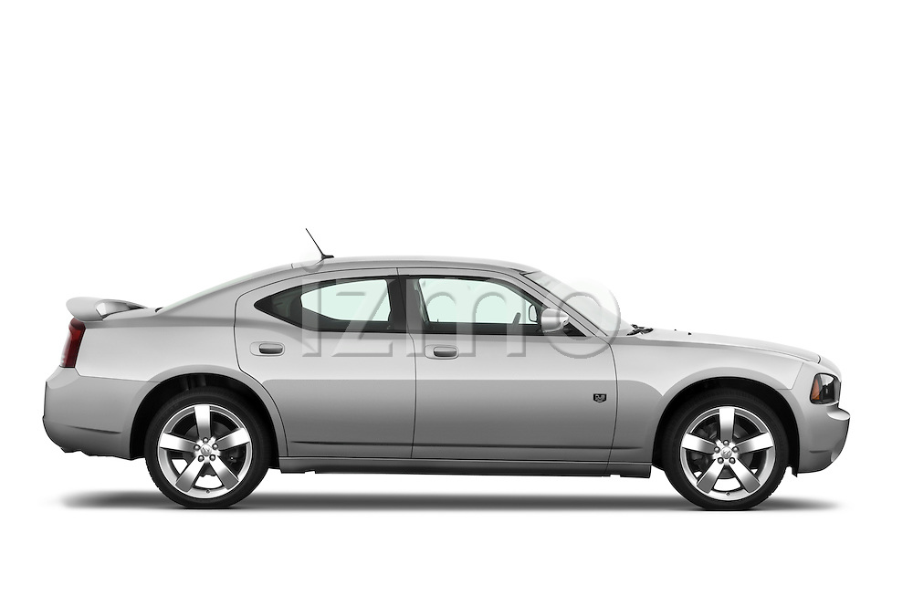 Passenger side profile view of a 2008 Dodge Charger Dub.
