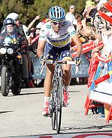 Alberto Contador during the stage of La Vuelta 2012 between Palas de Rei and Puerto de Ancares.September 1,2012. (ALTERPHOTOS/Acero) /Nortephoto.com<br /> <br /> **CREDITO*OBLIGATORIO** <br /> *No*Venta*A*Terceros*<br /> *No*Sale*So*third*<br /> *** No*Se*Permite*Hacer*Archivo**<br /> *No*Sale*So*third*