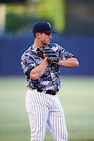 Tampa Yankees third baseman Mandy Alvarez (34) during the second game of a doubleheader against the Bradenton Marauders on April 13, 2017 at George M. Steinbrenner Field in Tampa, Florida.  Tampa defeated Bradenton 2-1.  (Mike Janes/Four Seam Images)