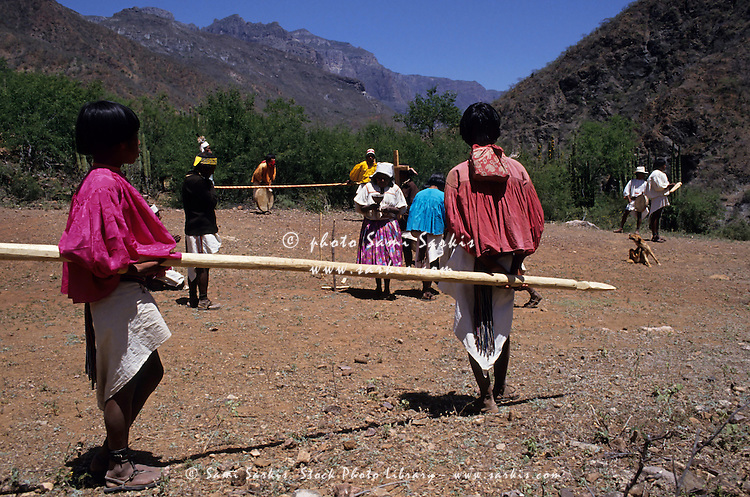 Tarahumaran children dancing for Easter celebrations, Chihuahua, Mexico.