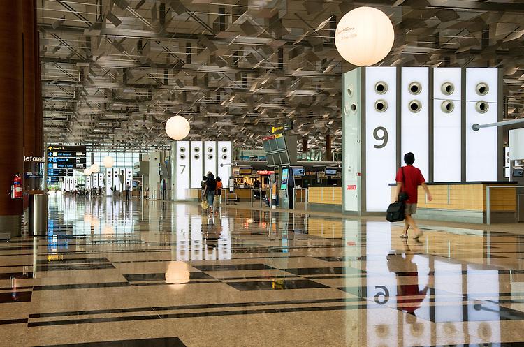 Singapore Changi Airport 03 - Landside departure hall, Changi Airport Terminal 3, Singapore