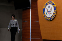 Representative Cathy McMorris Rodgers, Republican of Washington, enters the room prior to speaking with reporters during a post Republican Caucus meeting press conference on Capitol Hill in Washington, DC on June 13, 2018. Credit: Alex Edelman / CNP /MediaPunch
