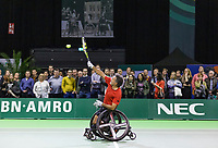Rotterdam, The Netherlands, 14 Februari 2019, ABNAMRO World Tennis Tournament, Ahoy, Wheelchair final doubles, Stephane Houdet (FRA),<br /> Photo: www.tennisimages.com/Henk Koster