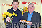 Raising funds on Daffodil day with a coffee morning at Ballyspillane FRC. .L-R John Dooley and Tim Doona.
