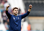 Tottenham's Mauricio Pochettino celebrates at the final whistle during the premier league match at the London Stadium, London. Picture date 23rd September 2017. Picture credit should read: David Klein/Sportimage