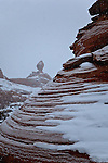 Snow and Balanced Rocks in Arches National Park