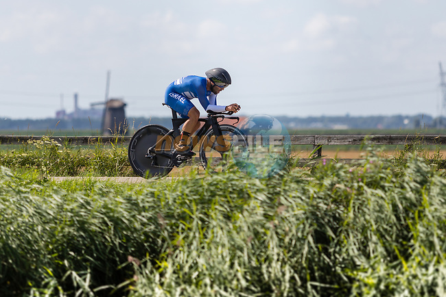 Aharon Hitman (ISR) in action during the 2019 ITT Elite Men European Championships, 8th August 2019. Photo by Thomas van Bracht / PelotonPhotos.com | All photos usage must carry mandatory copyright credit (Peloton Photos | Thomas van Bracht)