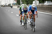 a very active Niki Terpstra (NED/Total - Direct Energie) early race.  Attempt n°1 to escape. <br /> <br /> Circuit de Wallonie 2019<br /> One Day Race: Charleroi – Charleroi 192.2km (UCI 1.1.)<br /> Bingoal Cycling Cup 2019