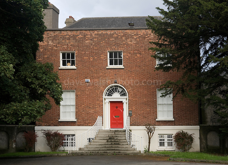 The Red House, Clonliffe College, Dublin, once home to the notorius Buck Jones - City Sheriff, gambler and adventurer, who was locked up for debt. His ghost is still alleged to haunt the area around Jones Road, named after him...