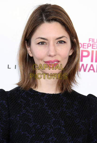 Sofia Coppola.2013 Film Independent Spirit Awards - Arrivals Held At Santa Monica Beach, Santa Monica, California, USA,.23rd February 2013..indy indie indies indys headshot portrait black navy blue patterned top pink lipstick.CAP/ADM/RE.©Russ Elliot/AdMedia/Capital Pictures
