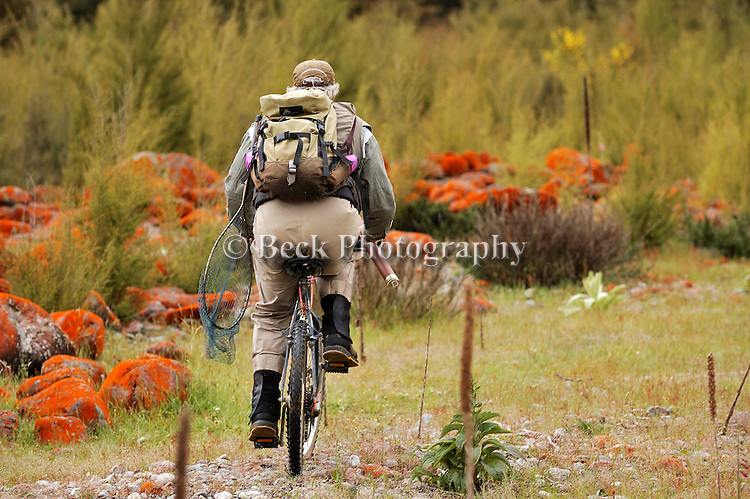 South Island NZ Fly fishing image Scott Murry, Mountain bike